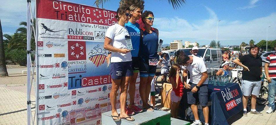 Subir al podio del Triatlón Ciudad de Burriana