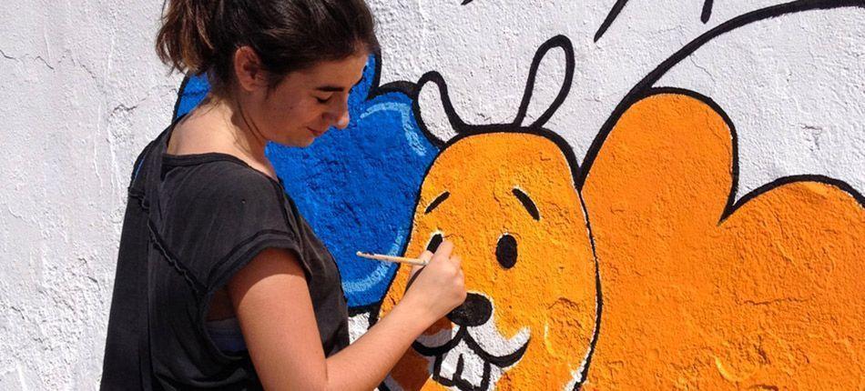 Graffitis culturales en Castellnovo
