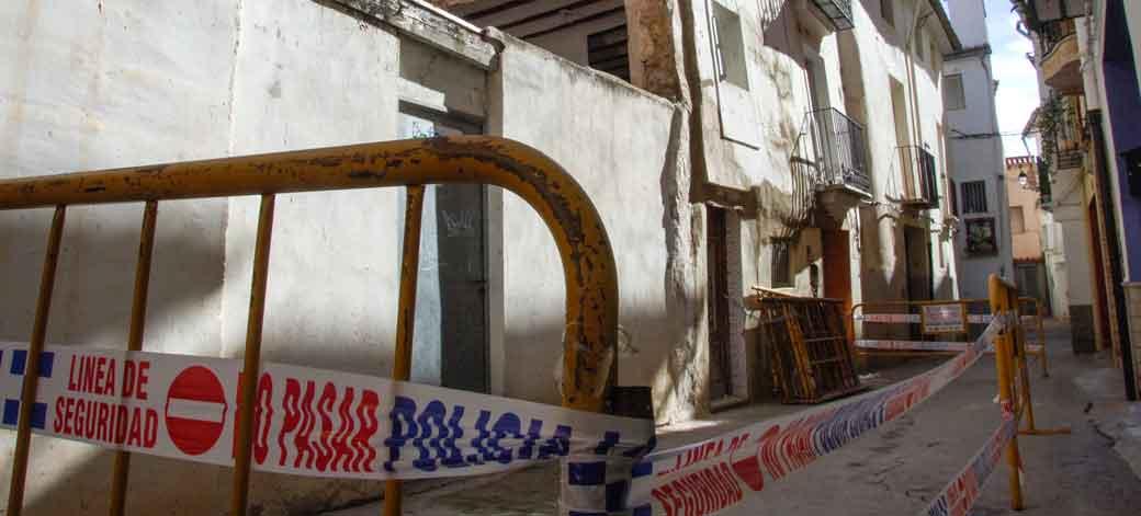 Desplome de una casa en Segorbe