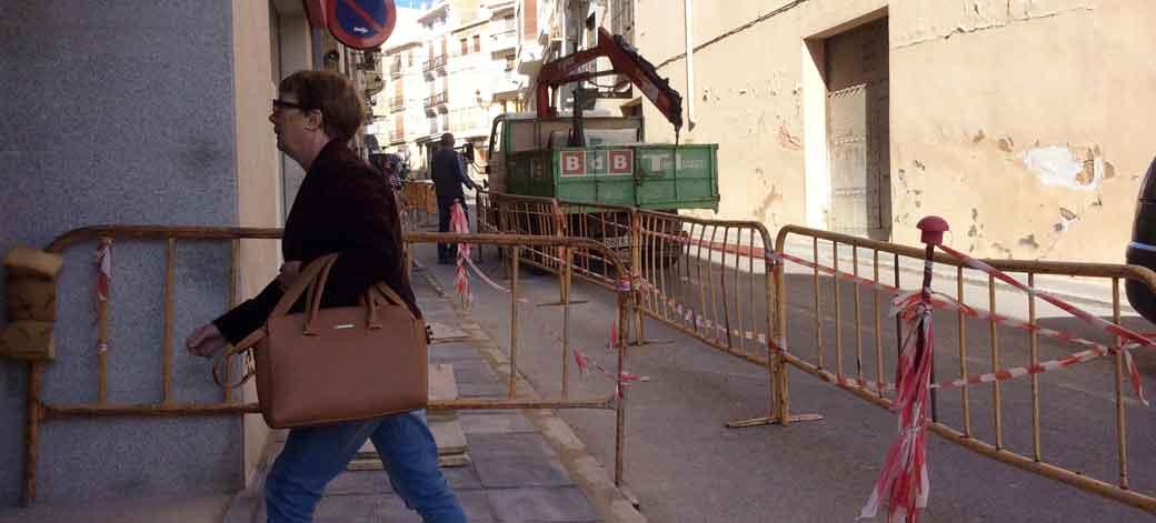 Ampliación de aceras en Segorbe