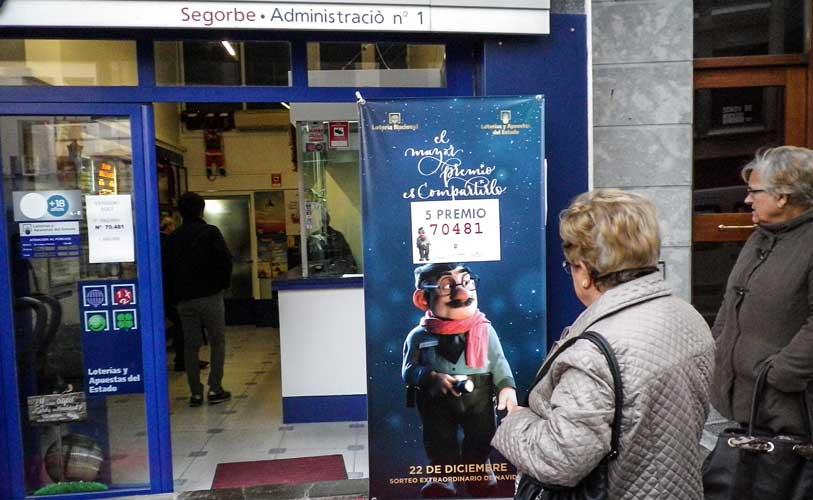 La lotería sonríe a Segorbe