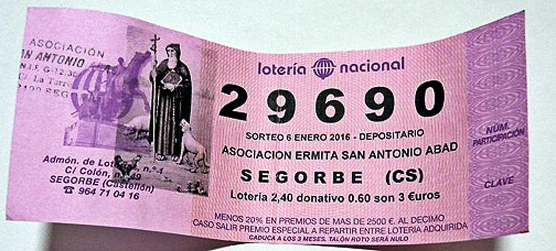 Venden un número equivocado de lotería de San Antón