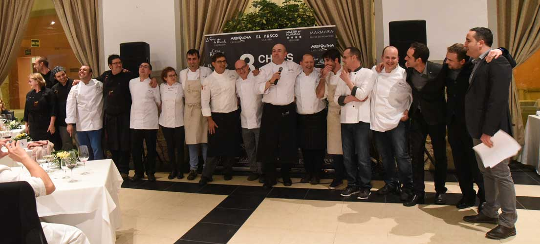 Cena 8 Chefs 8 platos en Segorbe