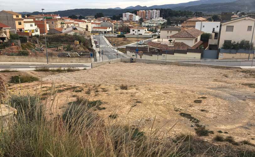 Terrenos en los que  se emplazaran las instalaciones. Foto:Alejandro Ibáñez.