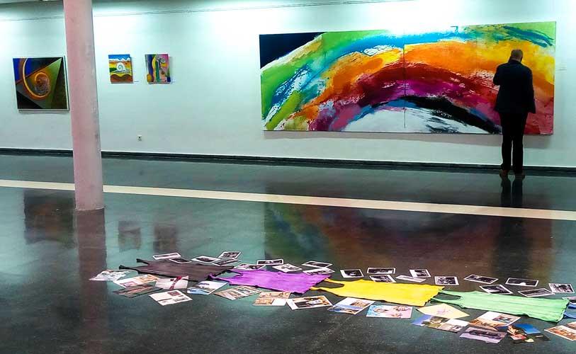 Obras de la muestra. Foto:J.Laffarga