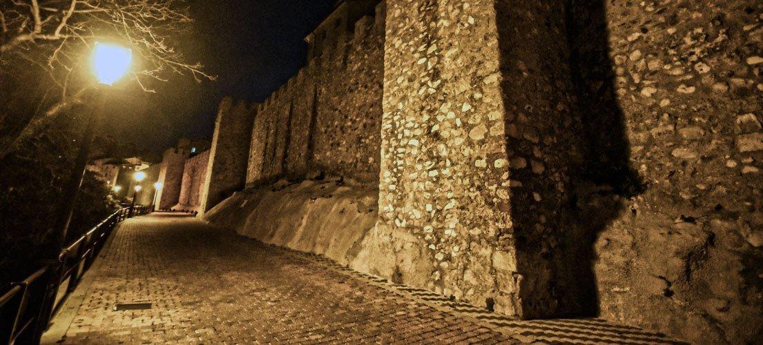 Las luces de la muralla estuvieron apagadas. Foto:J.Plasencia.