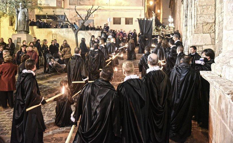 Procesión del entierro en Segorbe