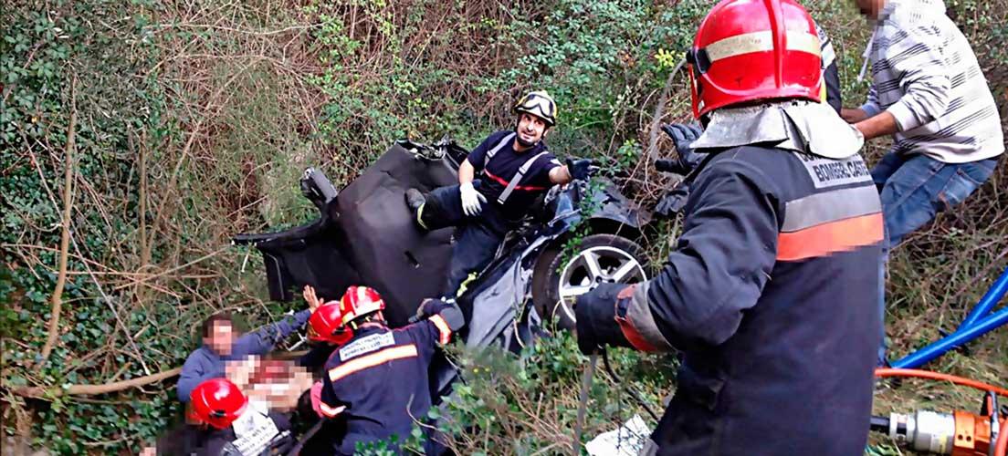 Dos heridos en un accidente en Almedíjar