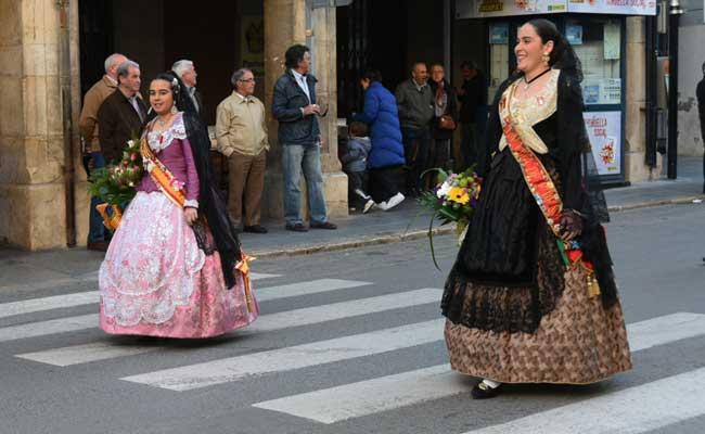 Fallera y Reina Mayor. Foto:J.P.