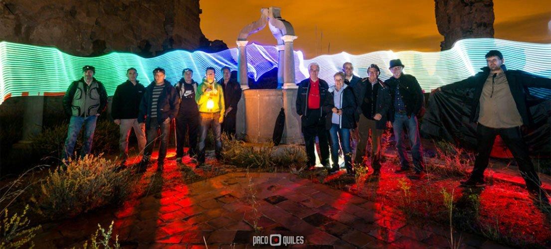 Paco Quiles pintó con luz Vall de Cristo