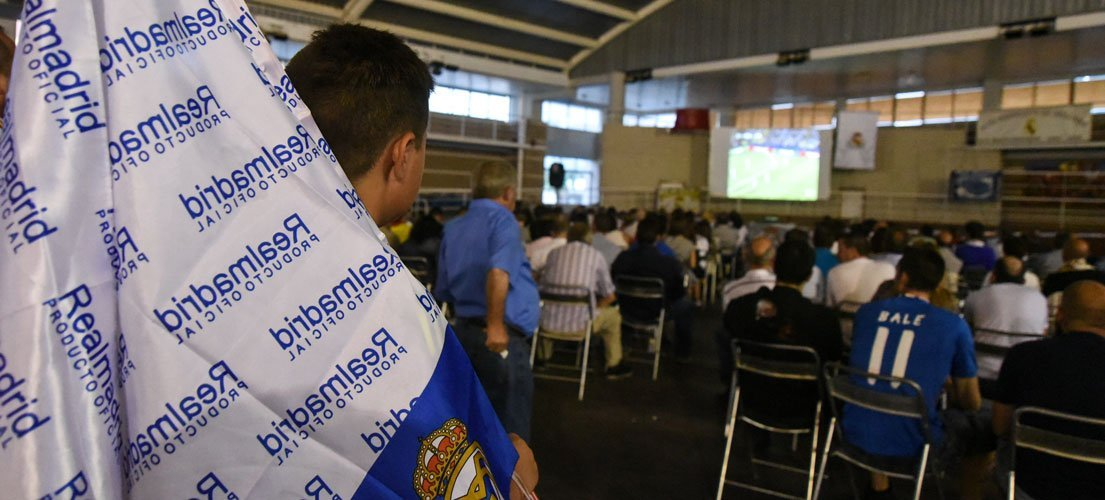 Los madridistas de Segorbe celebran la Champions