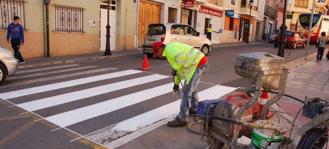 Pintan las calles de Segorbe