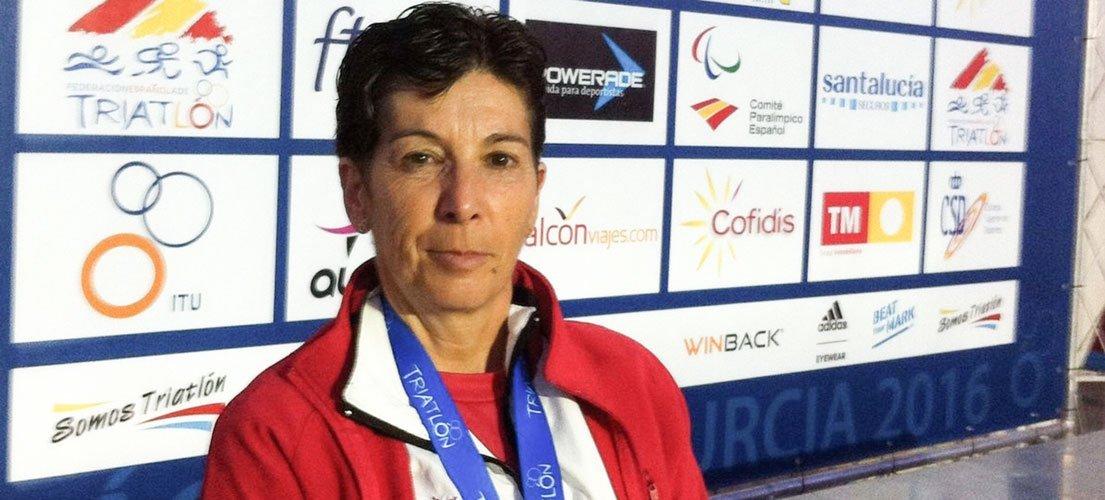 Elisa Portolés subcampeona de España de triatlón