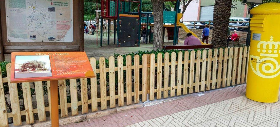 Vallado del parque infantil