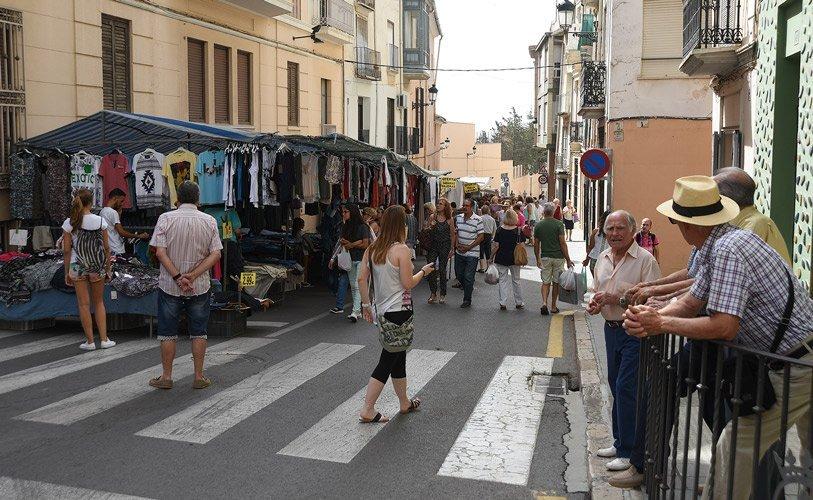 Cruce entre las calles Colón y Valencia. Foto:J.Plasencia.
