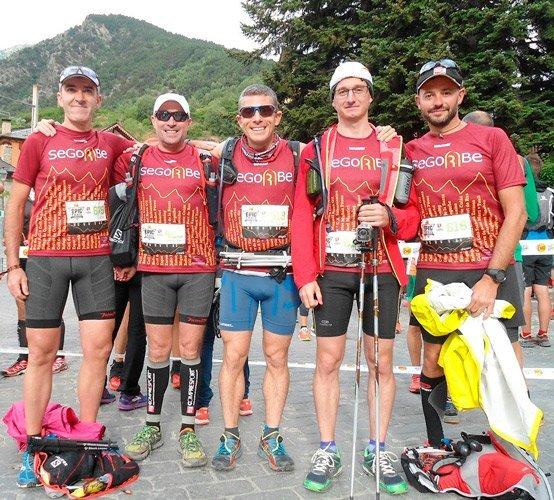 13 segorbinos que el fin de semana pasado participaron en las distintas pruebas que formaban parte del Mundial de Sky Running celebrado en la Vall de Boí,