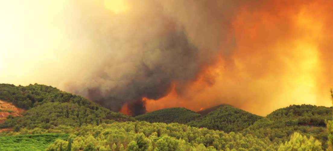 El incendio de Artana avanza descontrolado al Espadán