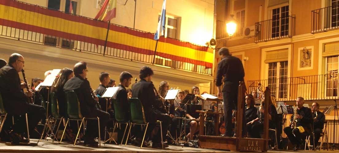 Concierto de la UAMN en la Plaza del Olmo