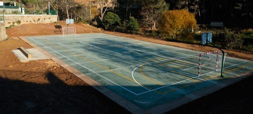 Diputación construye una zona deportiva en Alcudia de Veo