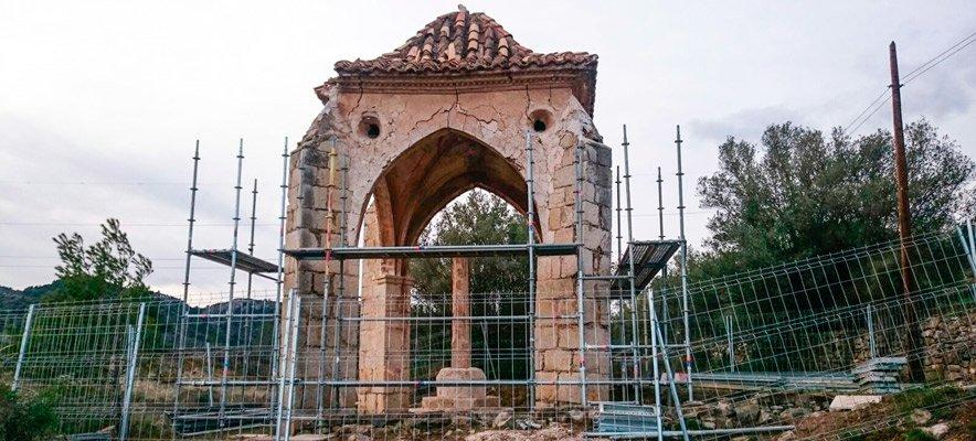 Inician la restauración de la Cruz Cubierta de Jérica