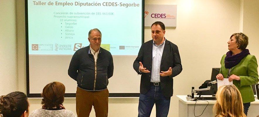 Diputación forma a 10 desempleados en el CEDES Segorbe