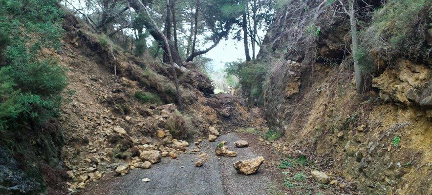 Importantes desprendimientos en la Vía Verde por el temporal