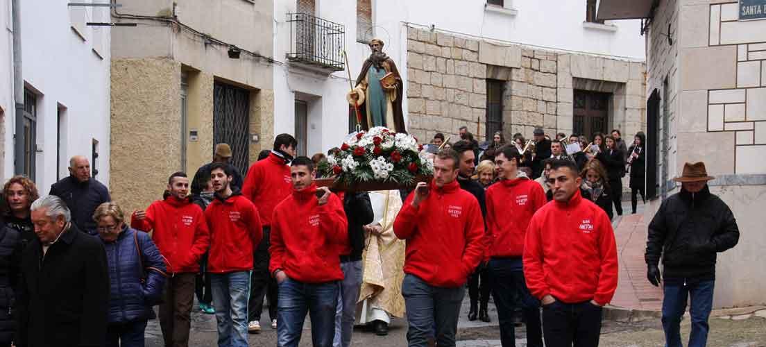 San Antón en Viver con nieve y frío