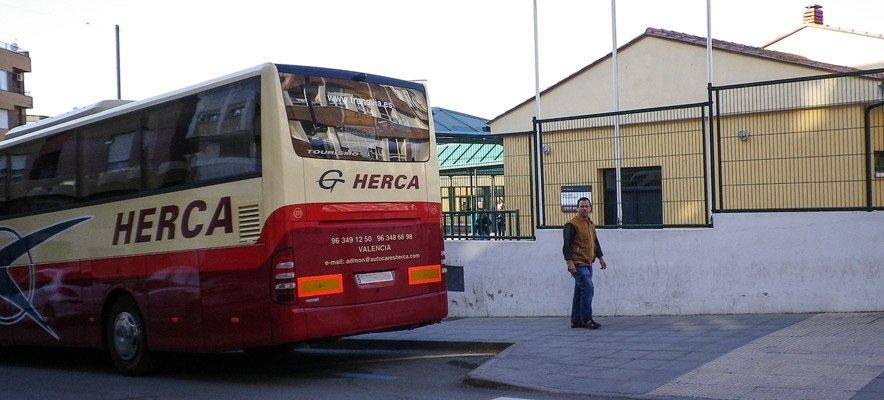 El transporte en autobús a examen