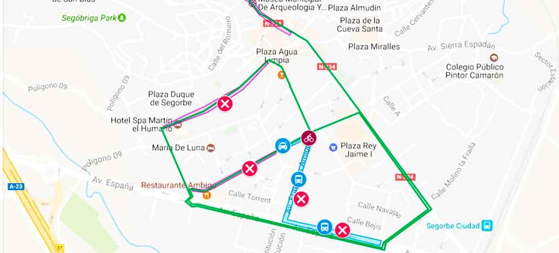 La Volta cortará en Segorbe el tráfico de una docena de calles