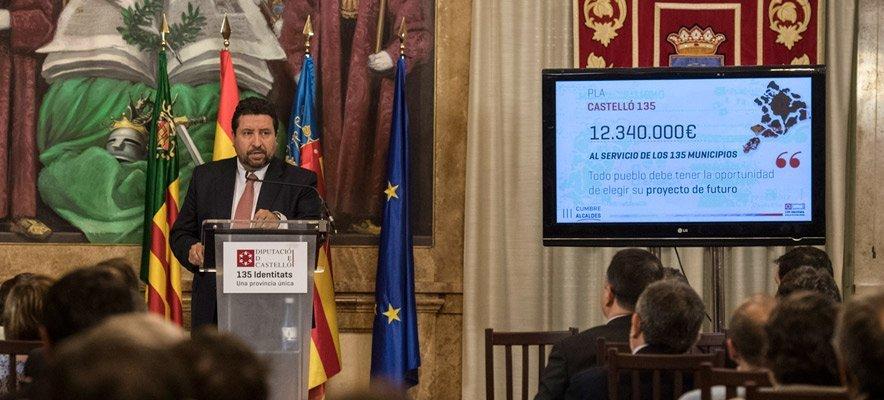 Diputación adelanta el dinero del Plan Castellón 135