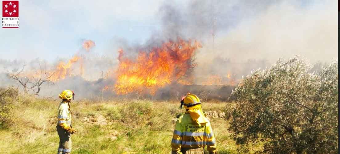 La quema de rastrojos provocó un incendio en Viver