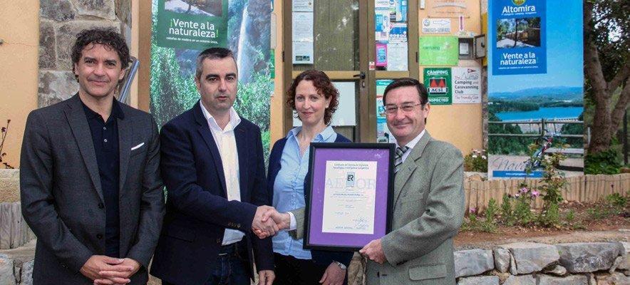 El Camping Altomira de Navajas obtiene el certificado AENOR