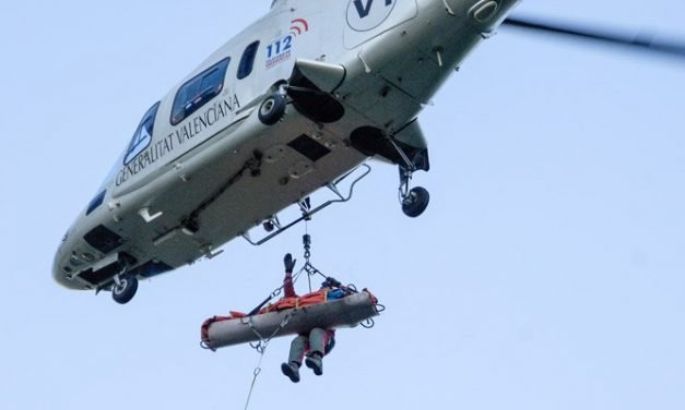 Rescatan vía aérea a un escalador en Jérica