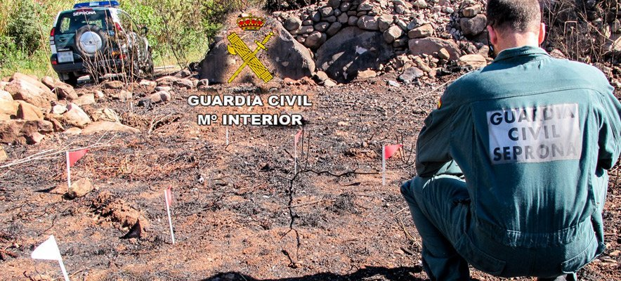G.C detiene a un pirómano reincidente en Azuébar