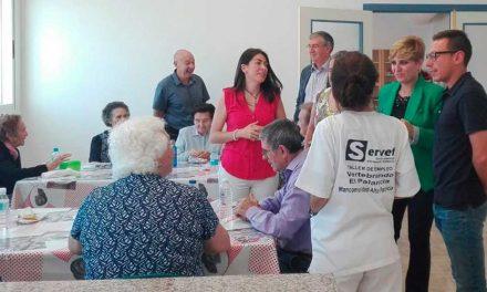 Elena Vicente Ruíz visita la Unidad de Respiro de Altura
