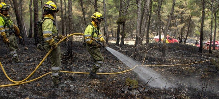 Sofocan la reactivación del incendio de La Calderona