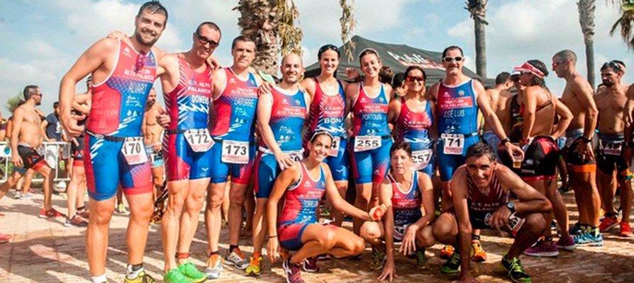 Dos oros y un bronce en el campeonato de España de Triatlón