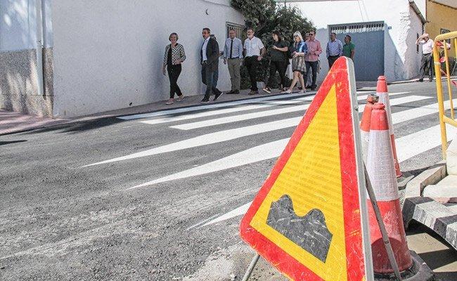 Salvador visita las obras realizadas en Altura y Peñalba