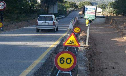 Diputación retoma las obras de la CV-213 tras meses de paralización