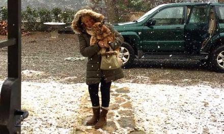 La nieve vuelve a cubrir el norte de la comarca del Alto Palancia