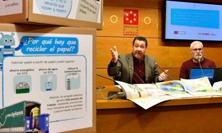 Diputación recoge 111.00 K. de papel en los colegios de la provincia