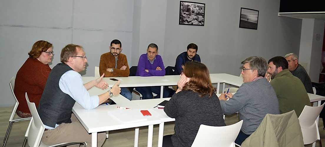 Ernest Blanch se reúne con los nuevos secretarios comarcales