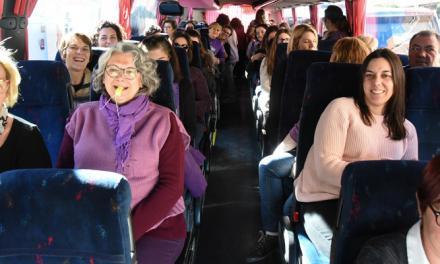 Un centenar de mujeres del Palancia se manifiestan en Valencia