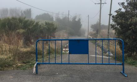 © El camino del cementerio de Segorbe cortado por obras