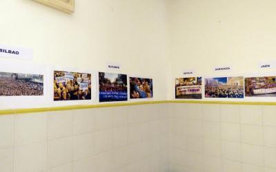 El IES Cueva Santa conciencia al alumnado con exposiciones mensuales