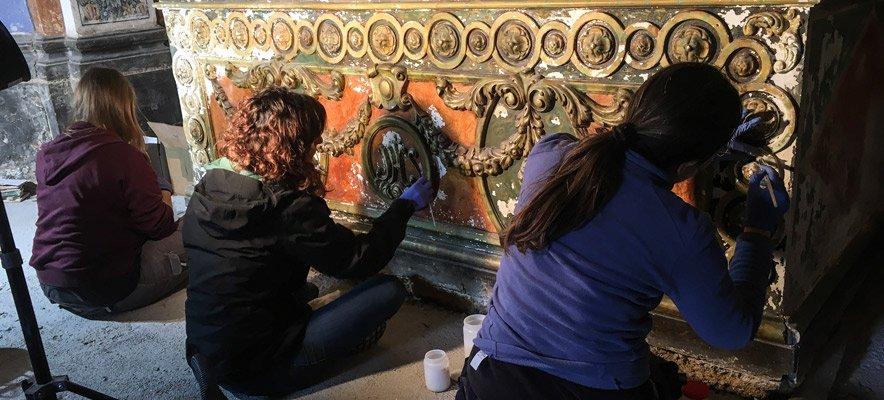 Iniciados en Caudiel los trabajos de restauración del Camerín de la Virgen