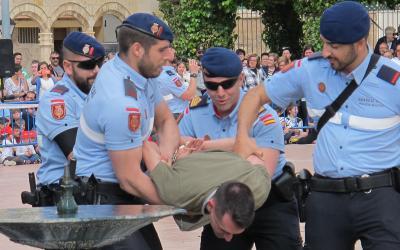 La Guardia Real y su exhibición de medios encandila al público