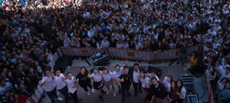 La campaña «Nada será igual» congrega a más de mil estudiantes en Castellón