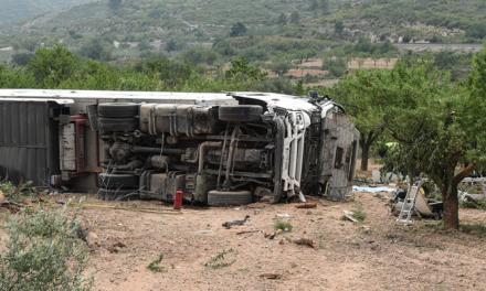 © Muere en Segorbe el conductor de un camión en la A-23