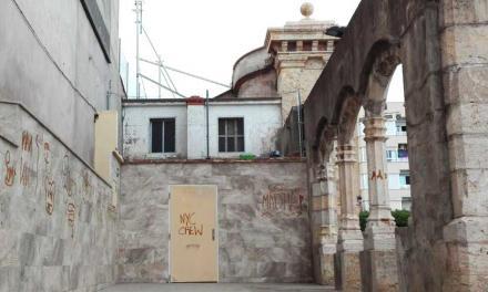 Los arcos del Botánico Pau de Segorbe son pintados con graffitis